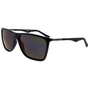 24b3dffe142 Timberland Accessories - TB9108-02D-57 Men Black Frame Grey Lens Sunglasses